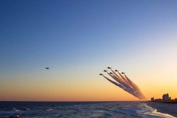Blue Angels At Sunset